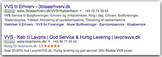 Danish Google AdWords on Google