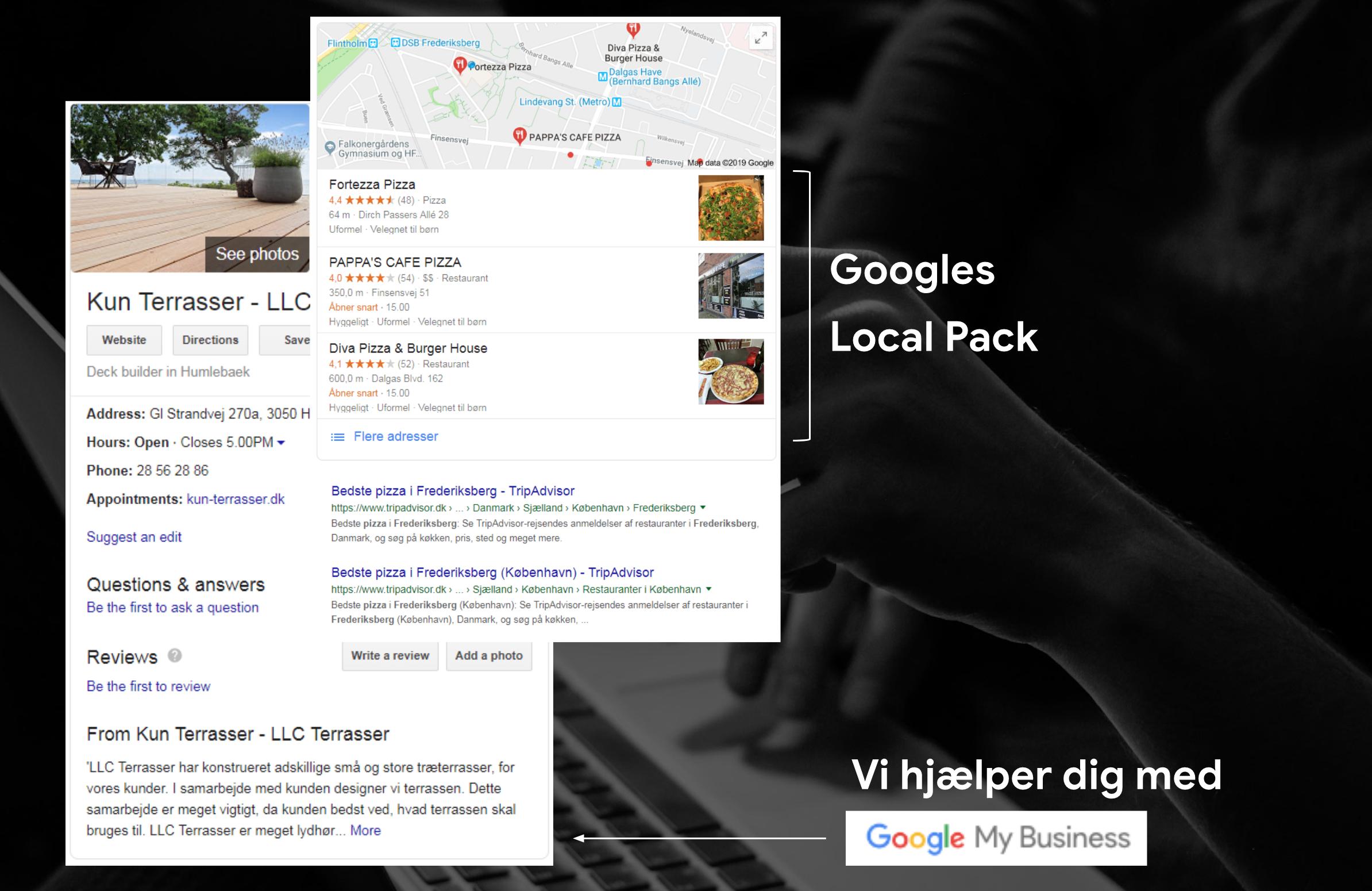 Google My Business og Googles Local Pack